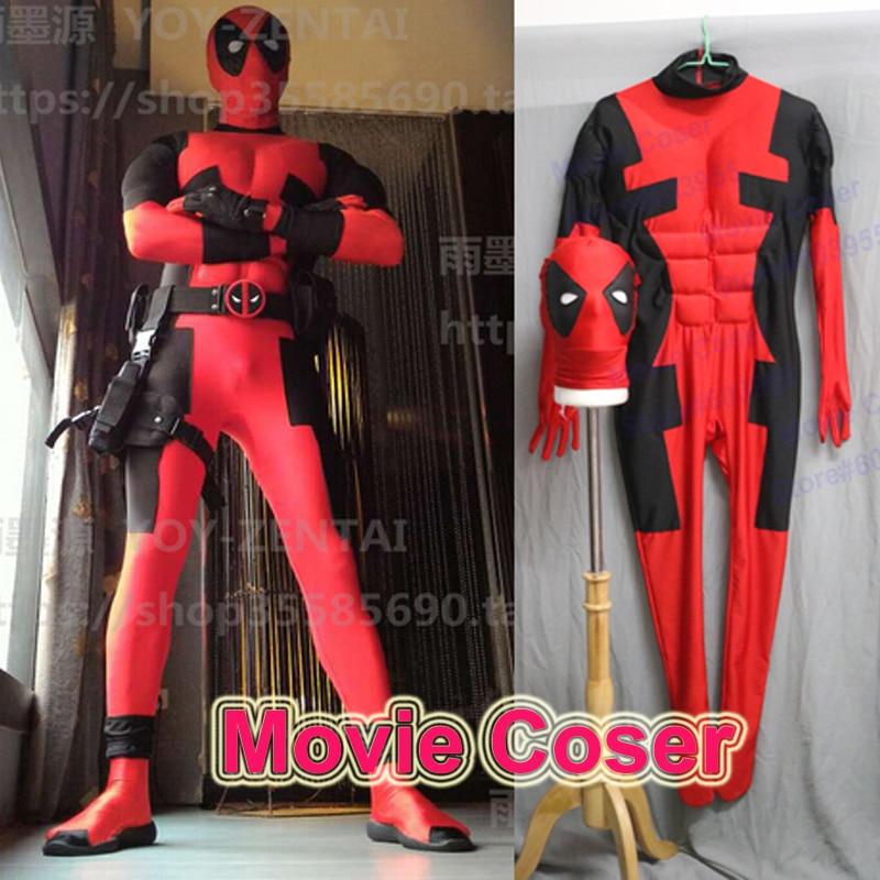 MovieCoser Legjobb minőségű Super Hero Deadpool jelmezhős Piros - Jelmezek