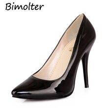 Bimolter Women Pumps Fashion High Heels Shoes Black Pink Yellow bridal Wedding Ladies Party Pump PXSB003