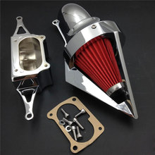 цены на For 02-10  Yamaha Road star Warrior Midnight Warrior Motorcycle Air Cleaner Kit Intake Filter CHROME 2002 2003 2004 2005  в интернет-магазинах