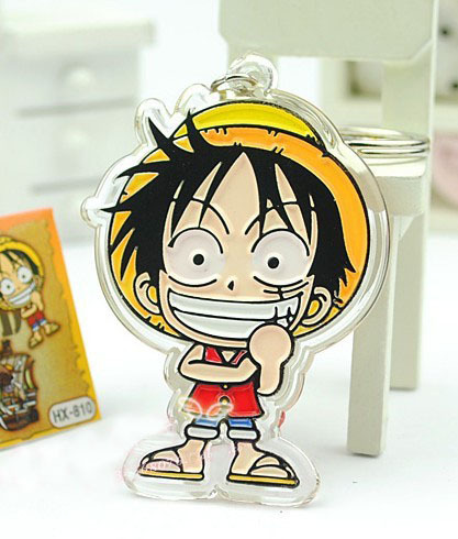 Fashion One Piece Monkey D Luffy Keychain