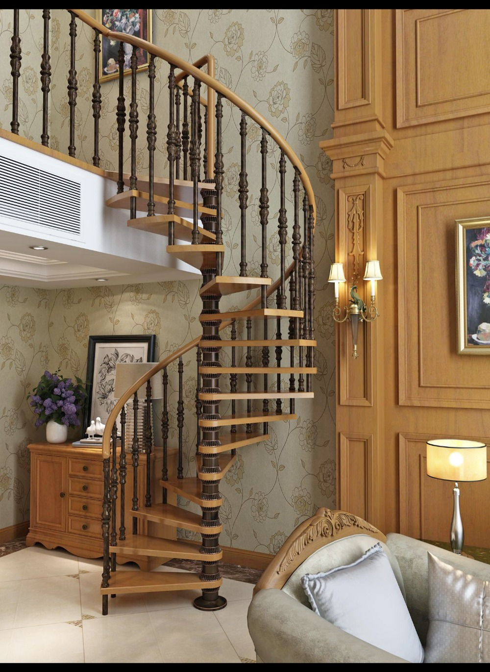 Compare prices on wood staircase design online shopping for Interior spiral staircase designs
