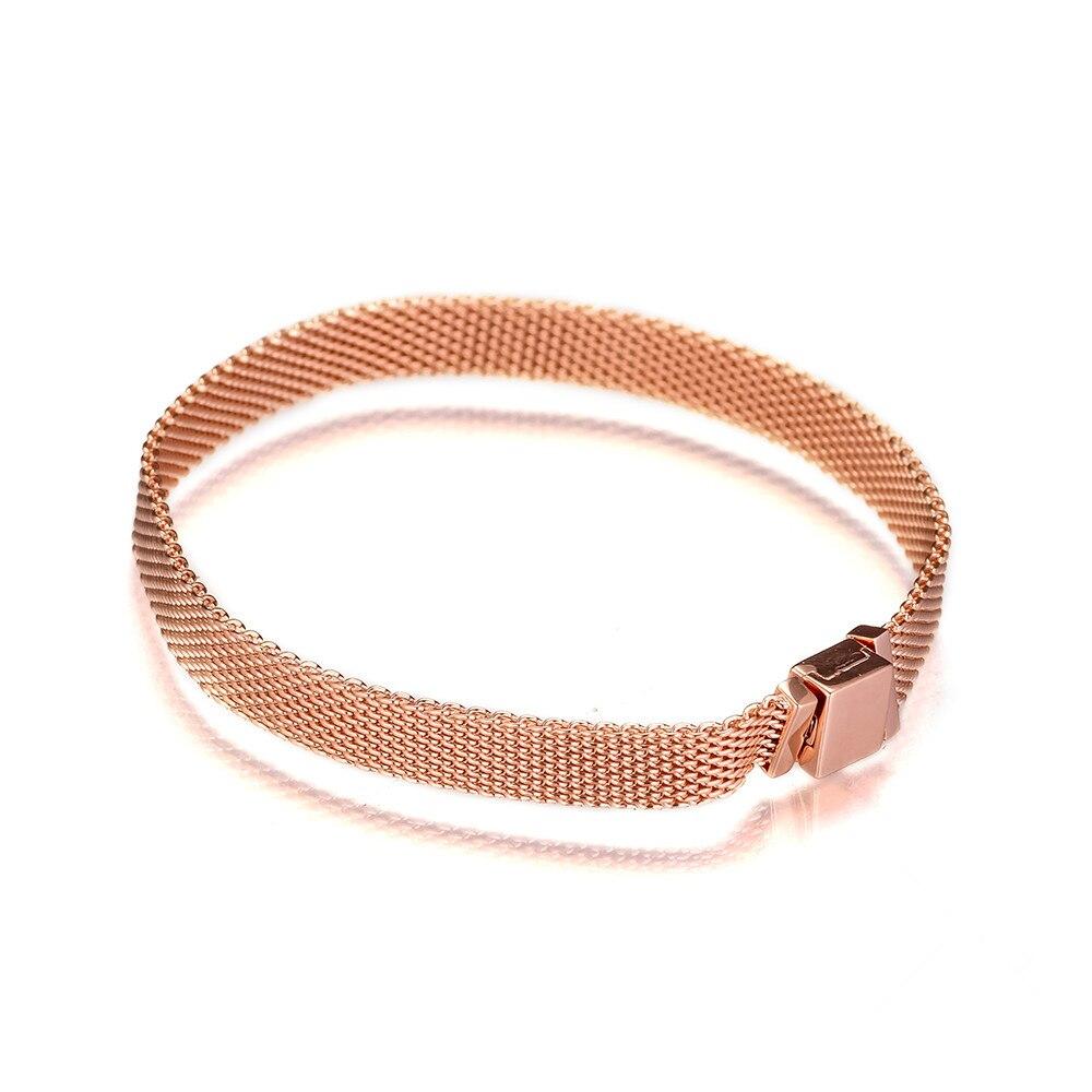 2018 mode Rose or réflexions Bracelets pour femme et hommes argent 925 bijoux bricolage Bracelets de démarrage pour les réflexions perles nouveau