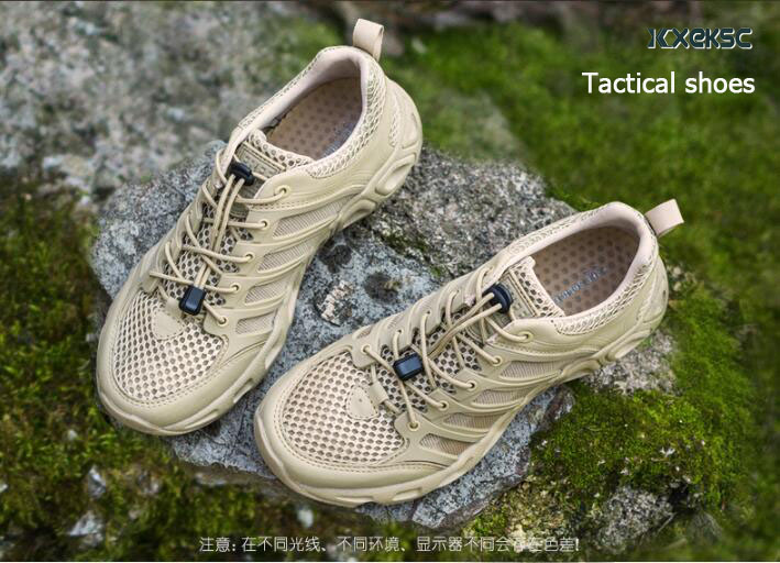 Outdoor Sports Camping shoes for Men Tactical Hiking Upstream Shoes For Summer Breathable Waterproof Coating quick-drying shoes