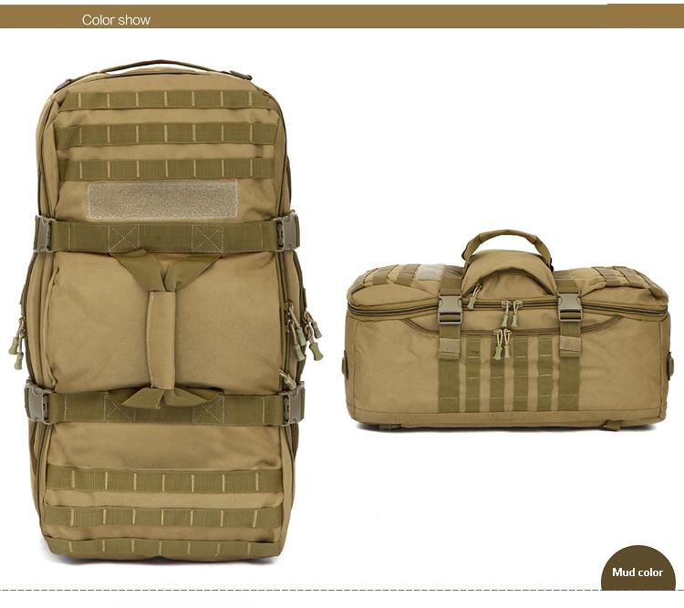 homem camuflagem mochila de acampamento esportes volta pacote saco militar