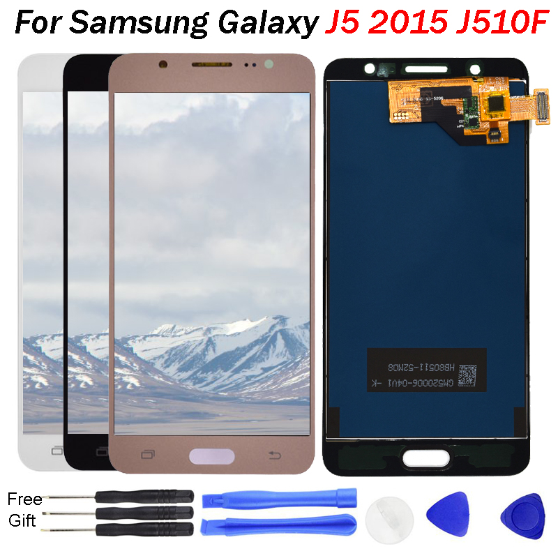 For Samsung Galaxy J5 2016 LCD <font><b>Display</b></font> <font><b>J510FN</b></font> J510F J510G J510Y J510M J510 Touch Screen Digitizer Assembly for samsung j510 LCD image