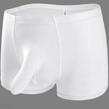 cd10eb62c Underwear homens Sexy Homens Cueca Boxer Cuecas de Seda Gelo Sexy Elefante  Nariz Grande Bolsa Boxer