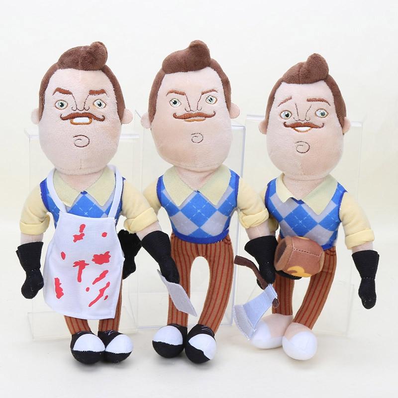30cm Hello Neighbor Plush Toys The Neighbor Apron Cleaver Soft Stuffed Doll