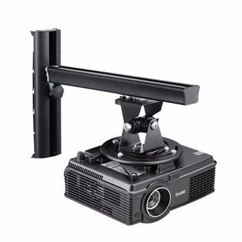suptek Black Universal Projector Ceiling Mount Bracket Fits Wall Height Adjustable for LCD/DLP Projectors  PR04