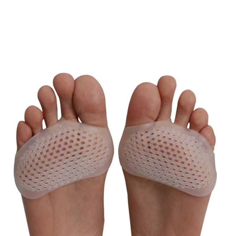 2 pièces/paire Silicone chaussures à talons hauts coussinets souples résistant à la douleur protéger demi-cour Invisible Gel semelles intérieures