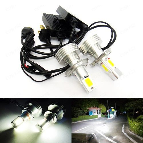 H4 472 Bulb High Power COB LED 7600lm 60W HeadLight Fog Light DRL No Error White(CA225) 12v led light auto headlamp h1 h3 h7 9005 9004 9007 h4 h15 car led headlight bulb 30w high single dual beam white light