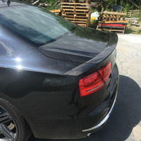 A8 Modified ABT Style 3PCS Carbon Fiber Rear Trunk Luggage Compartment spoiler Car Wing For Audi A8 2010 2011 2012 2013 2014
