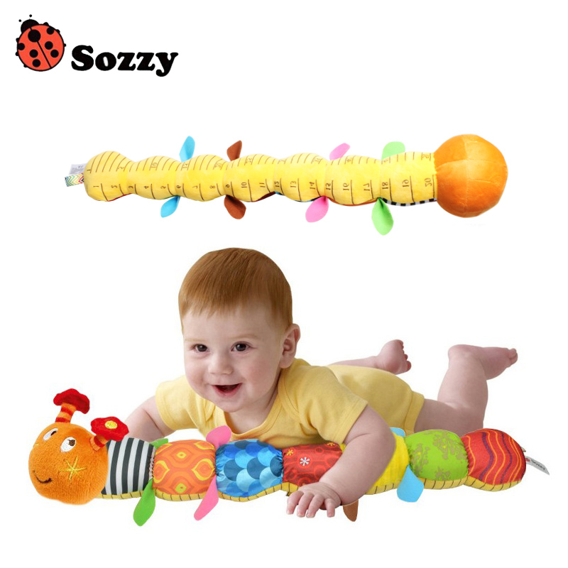 Genuine Authorized Sozzy Cute Baby Toy Musical Stuff Caterpillar With Ring Bell Plush Animal Creative Doll Early Educational