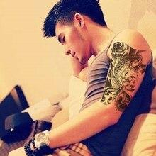 Black Fish Waterproof Temporary Tattoo For Men Women Tattoo Sleeve Sticker For Body Fake Tattoos Body Tattoo Stickers Shoulder