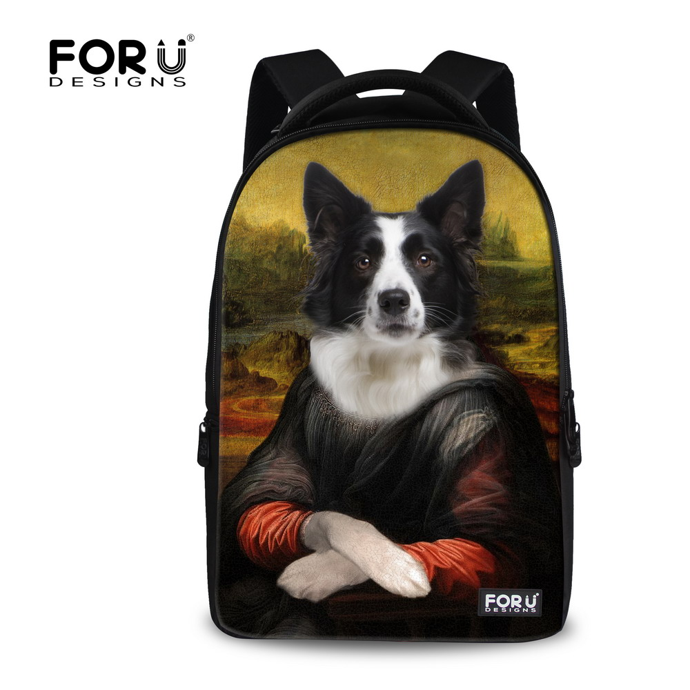 ФОТО Fashion 17inch Pet Dog Printing Backpack Teenager Boys Laptop Backpack for Men Large School Backpack Children Travel Backbag