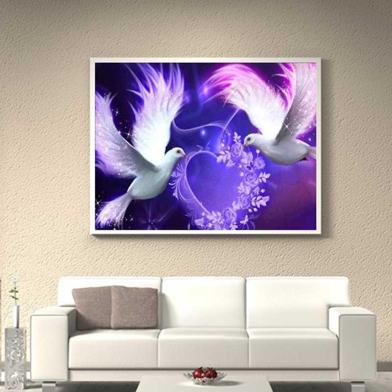 Dove 5D полный алмазов картина вышивка DIY ремесло вышивки крестом домашний декор