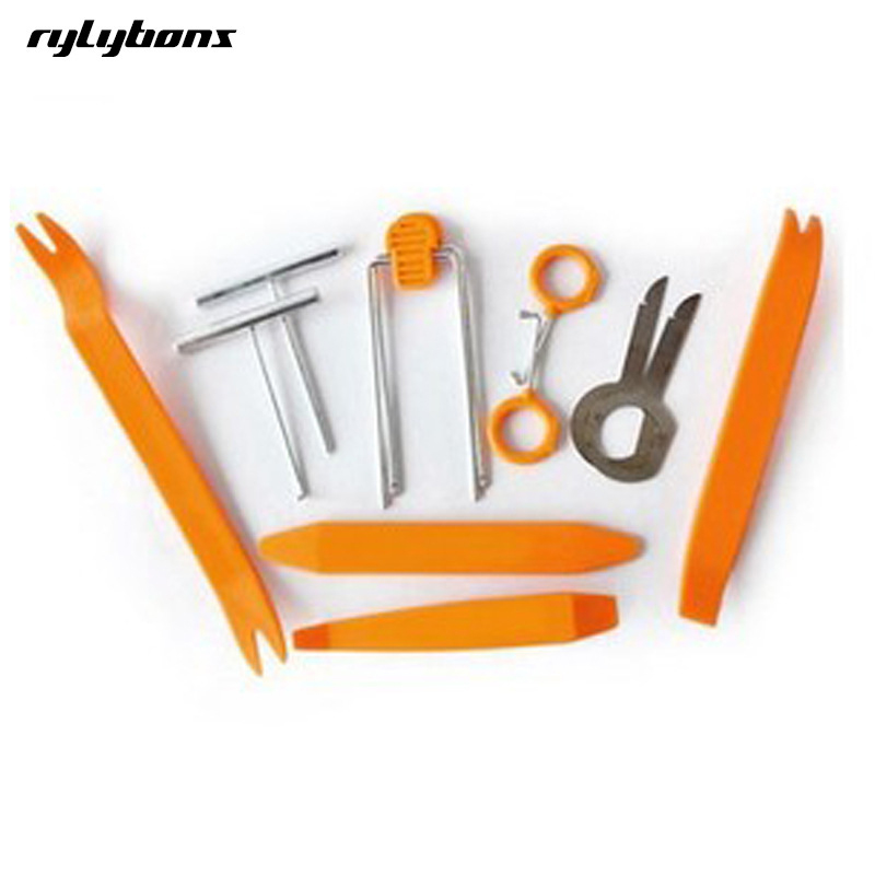 12pcs Car Disassembly Tools Car Dvd Player Stereo Refit Tools Interior Trim Panel Dashboard Installation Removal Pry Tools Стикер