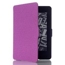 """Ultra Delgada de la Cubierta Funda de piel para Amazon Kindle Paperwhite 1 2 3 6 """"case para kindle paperwhite 6 pulgadas tablet shell con el sueño y despertar(China (Mainland))"""