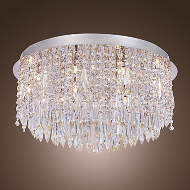 Lustres De Sala, LED Crystal Ceiling Lamp Light With 5 Lights For Living Room Bedroom Lustre De Cristal Free Shipping