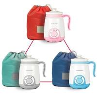 220V 400ML Household Electric Slow Stewing Pot Mini Portable Ceramic Electric Boiling Water Mug Mini Hot Pot EU/AU/UK/US