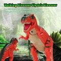 2 Цветов Электрический Динозавров Милый Мультфильм Ходить Динозавров Свет Игрушка Фигура со Звуками и СВЕТОДИОДНЫЙ Проектор и Электронные Игрушки