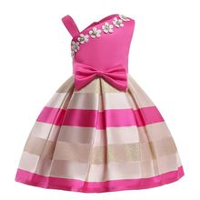 Baby Girls Striped Dress Christmas New Year clothes Party Baby Girls Sleeveless Princess Wedding Dress Children Party Vestidos