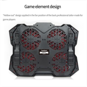 New Laptop Cooling Pad for 12-17 inch Laptop with 4 Silent Fans LED Lights Dual USB Ports r20 1