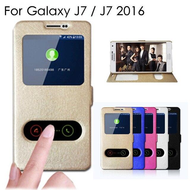 Высокое качество J7 флип чехол для Samsung Galaxy J7 2016 j700 j710 кожа телефон Сумки Чехол с подставкой Функция J 7 Чехлы для мангала