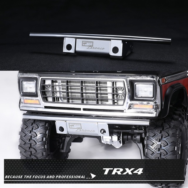 c67d93383a1 XBERSTAR Stainless Steel Metal Front Bumper Guard for DJ TRAXXAS TRX4 TRX-4 Ford  Bronco