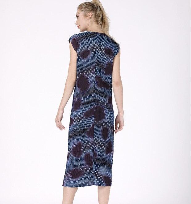 Robe Pliant Livraison Imprimer Mince Robes Série Bleu Rides Miyake Nouveau Plearted vert Gratuite rouge 2019 Numérique TPx5wCnn