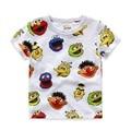 100% Algodón de Verano Niños Camisetas de Dibujos Animados Impreso de manga Corta Camisas de Los Muchachos 2-8 Años Los Niños Camiseta Para Niños marca de Ropa Para Niños