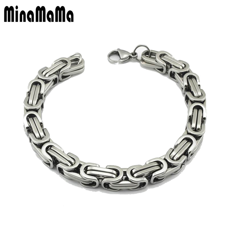 New Classic Design Punk Stainless Steel Bike Bracelet Men Biker Bicycle Motorcycle Chain Bracelets Bangles For Unisex Jewelry