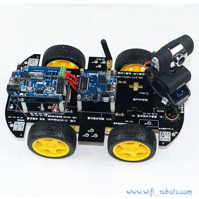Kit de Robot de voiture intelligente Wifi pour arduino iOS vidéo Robot de voiture sans fil télécommande Android PC surveillance vidéo