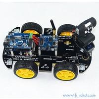 Wi Fi салона автомобиля Робот комплект для arduino iOS видео автомобиля Робот Беспроводной удаленного Управление Android PC видеонаблюдения
