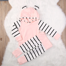 0-2Y Newborn Baby Girls Clothing (Hoodie Tops T-shirt+Cotton Pants)