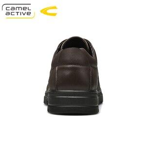 Image 5 - Camel Active zapatos informales hechos a mano nuevos para hombre, calzado transpirable de vestir, de alta calidad, planos, de piel auténtica