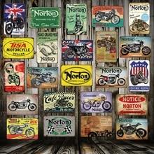 [WellCraft] Norton BSA металлические вывески настенный плакат доска мотор Фреска картина старинный Бар Паб Декор FG-211