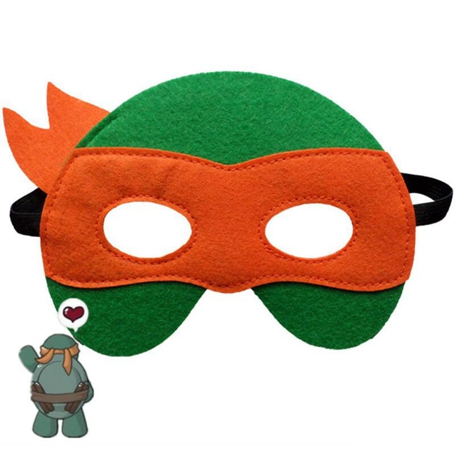 GNHYLL Ninja Turtles Mask Captain America Teenage Mutant Ninja Turtles The Avengers Kid Birthday Gift Cosplay Party Masks 2