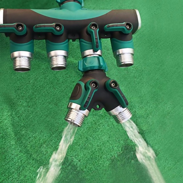 garden hose splitter. y shunt adapter connector 3/4\ garden hose splitter t