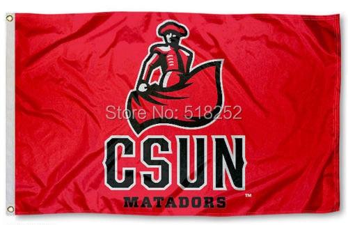 CSUN Matadors CSUN Logo Flag 3x5 FT NCAA 150X90CM Banner 100D Polyester Custom flag grommets 6038,free shipping