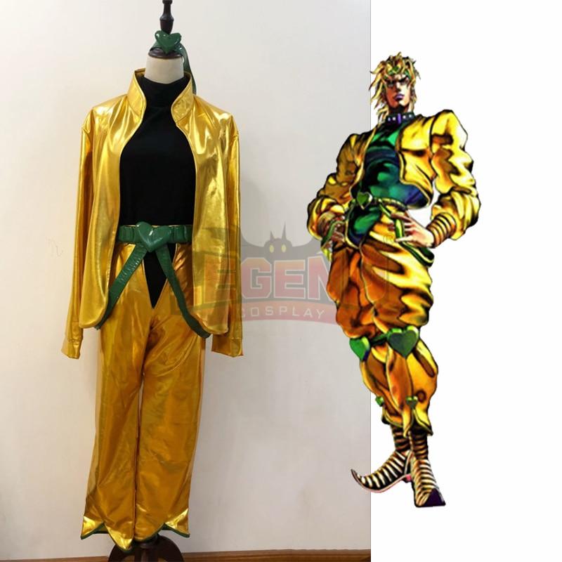 Anime JoJo's Bizarre Adventure Dio Brando Cosplay Costume halloween costume gold