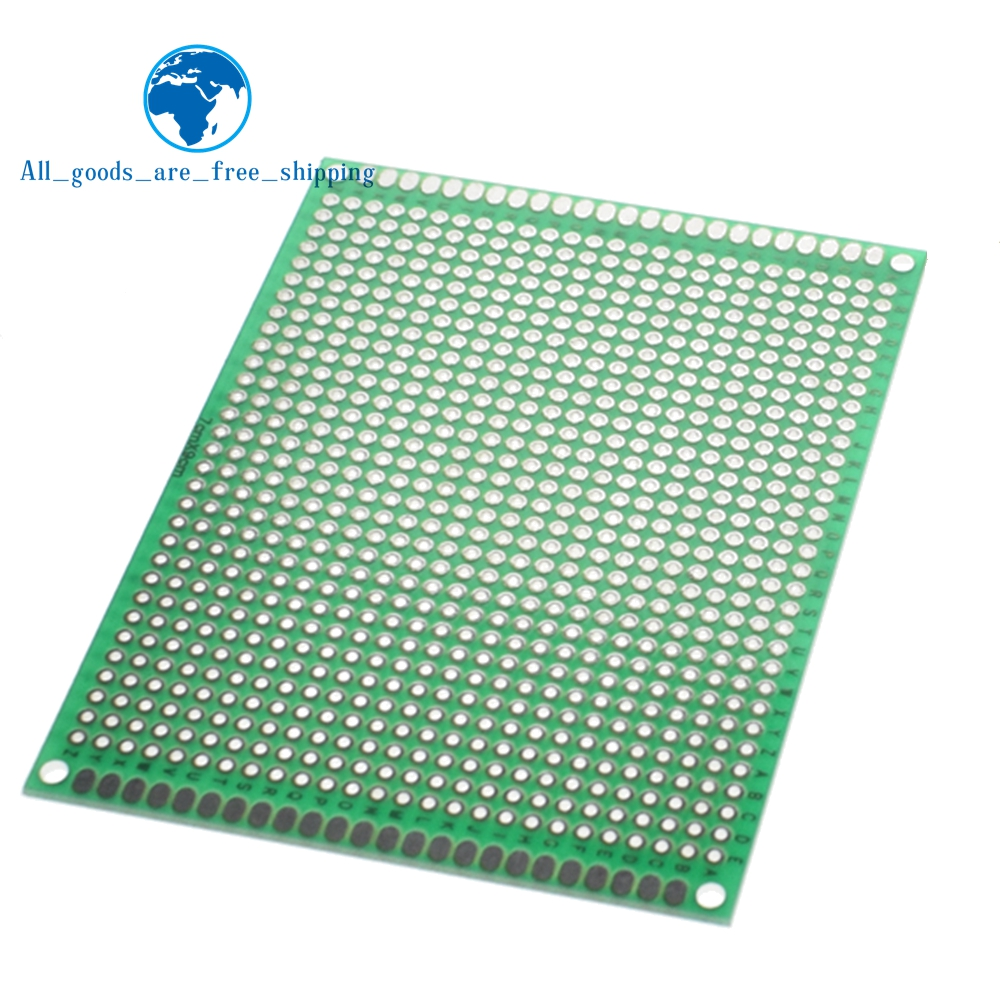 7x9 Cm PROTOTYPE PCB 7*9cm Panel Double Coating/tinning PCB Universal Board Double Sided PCB 2.54MM Board Green