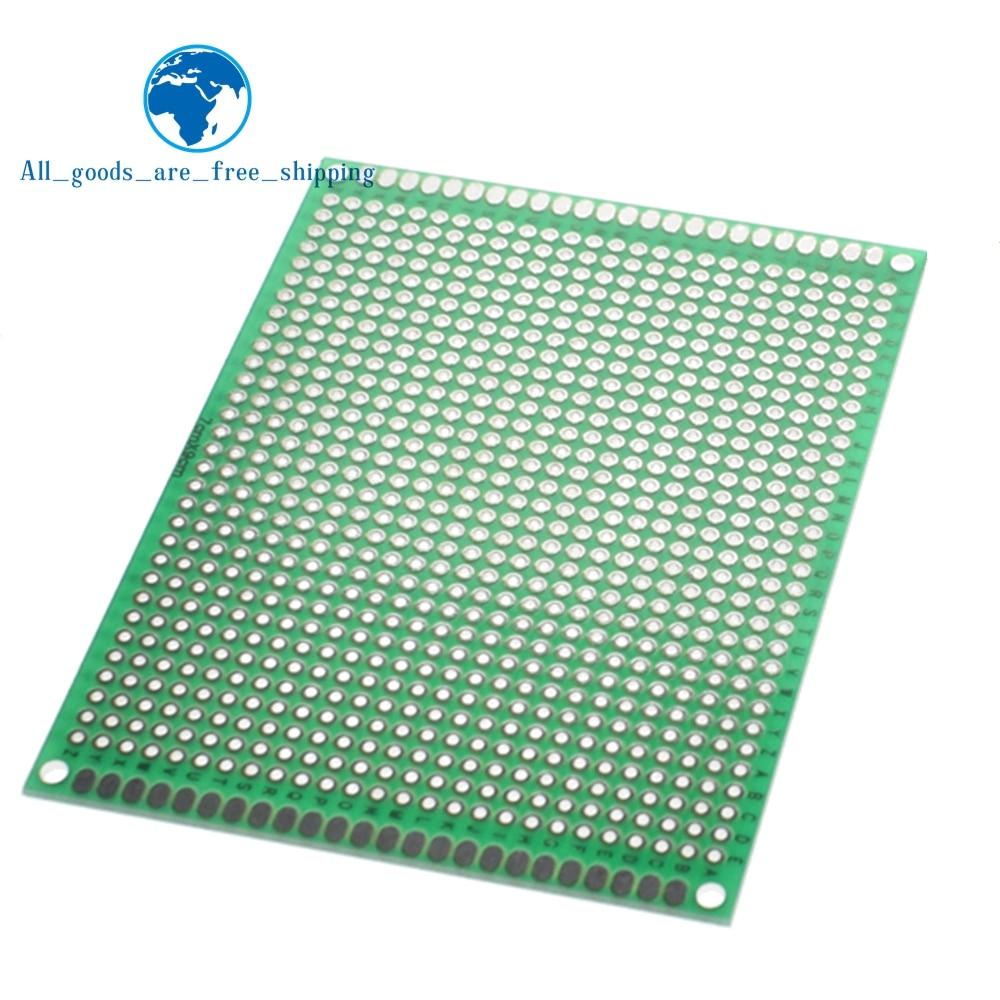 7x9 см Прототип PCB 7*9 см панель с двойным покрытием/Луженая печатная плата универсальная двухсторонняя печатная плата 2,54 мм доска Зеленая