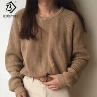 Mode coréenne dames à manches longues femmes tricot pull solide o-cou pull et pull pull en vrac offre spéciale S80209Q