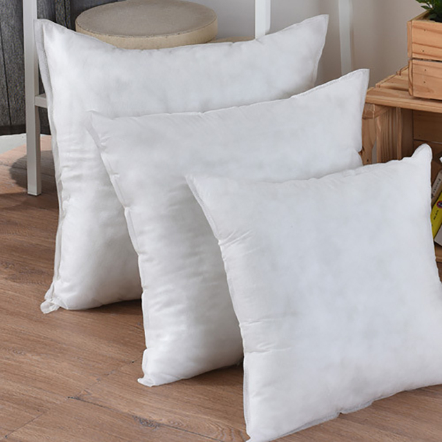 3 Size White Square Non-woven Pillow Core Pillow Inner Cushion Insert Filling for Sofa Car Chair Home Decor