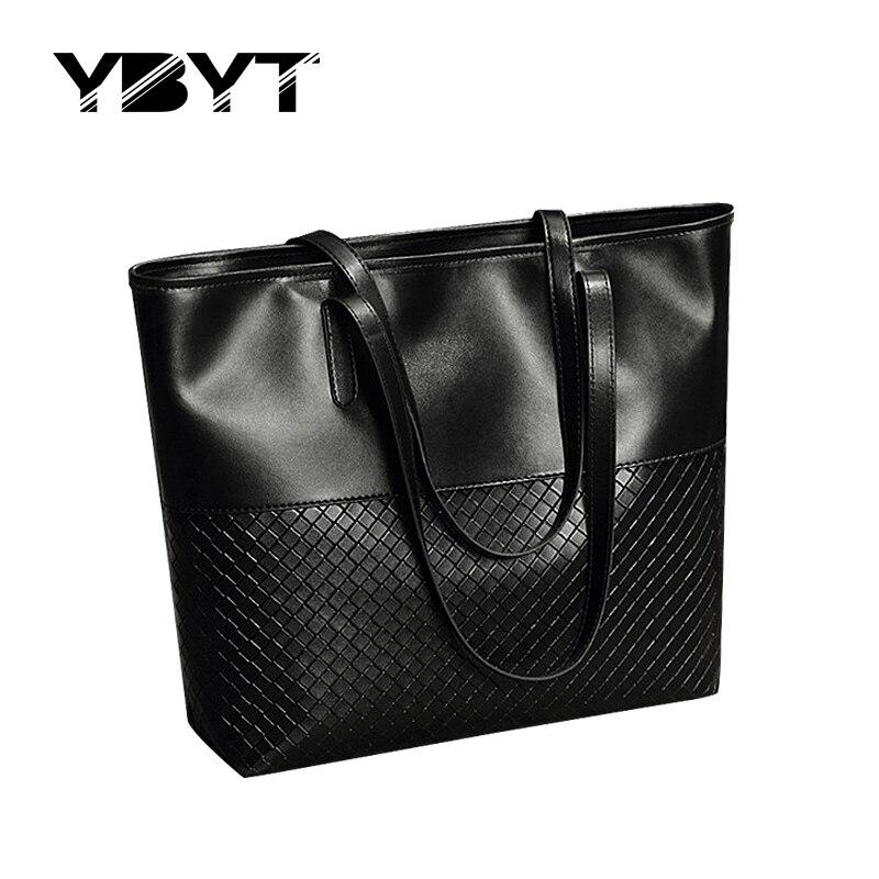 YBYT brand 2017 new tote knitting medium handbag hotsale ladies party purse wedd