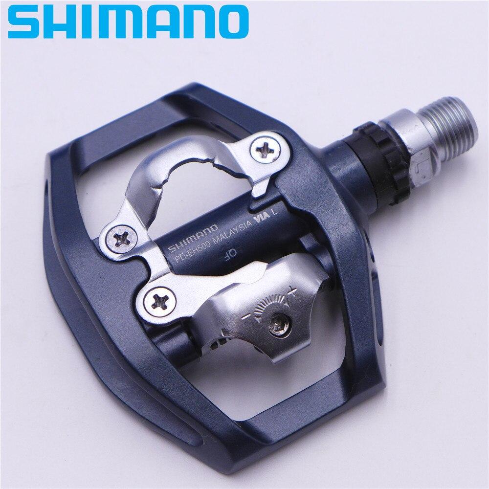 SHIMANO PD EH500 plate-forme double face/pédales SPD Clipless avec taquet SM-SH56 PD-EH500 d'origine - 4