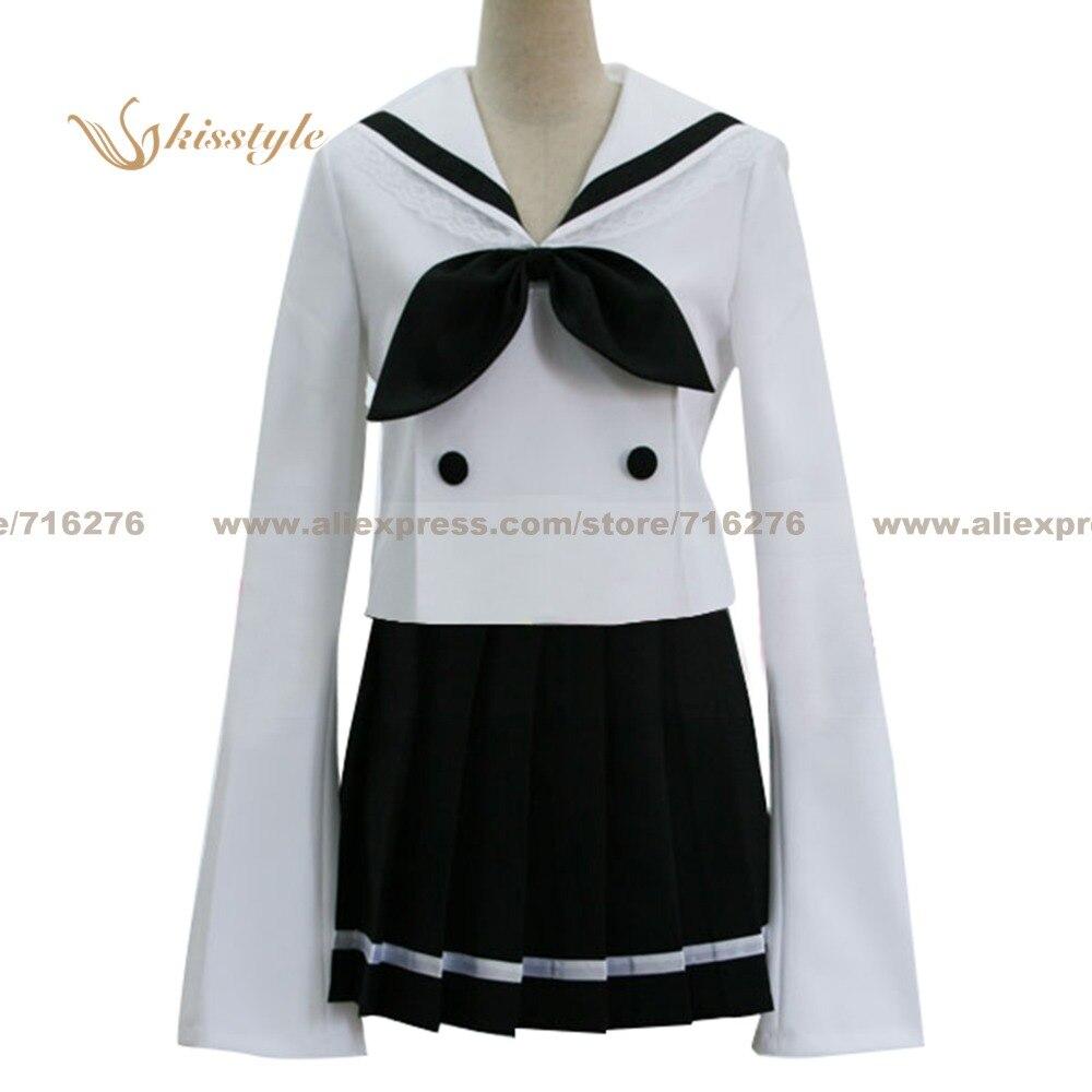 f3a49a501 ⑧Kisstyle moda lucky star kogami Akira verano niña uniforme cos ...