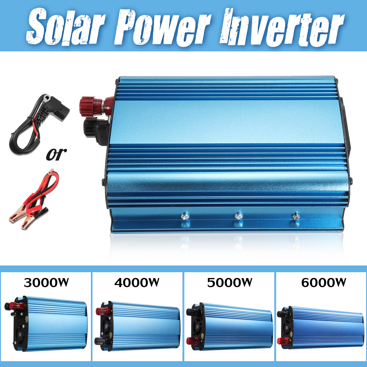 цена на 3000W/4000W/5000W/6000W Solar Power Inverter DC 12V/24V/48V/60V To AC 220V Sine Wave Car Inverter Charger Voltage Convertor