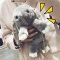 Bandolera mujer мех Кролика кожа цепь сумка женские модели новая зимняя трава мешок диагональ плеча сумку милый кролик мешок