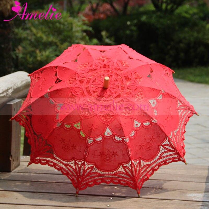 32 Victorian Encaje parasol comunión paraguas battenburg algodón ...